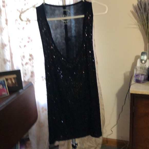 INC International Concepts Tops - Black Sequin Long Tank !  Never been worn!